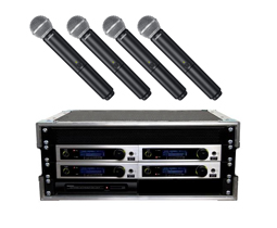 4way radio mic hire