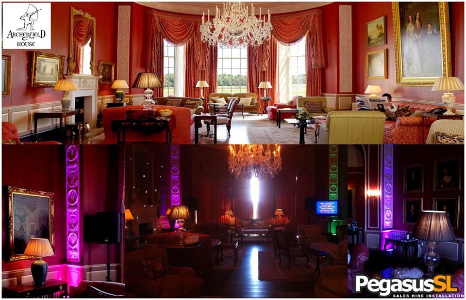 Exhibition Stand Hire Edinburgh : Pegasus sound and light led uplighter hire