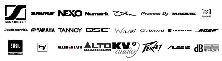 Hire Audio brands include