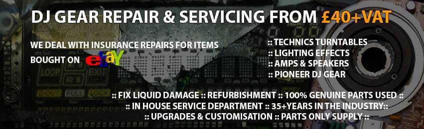 dj gear repair and servicing banner