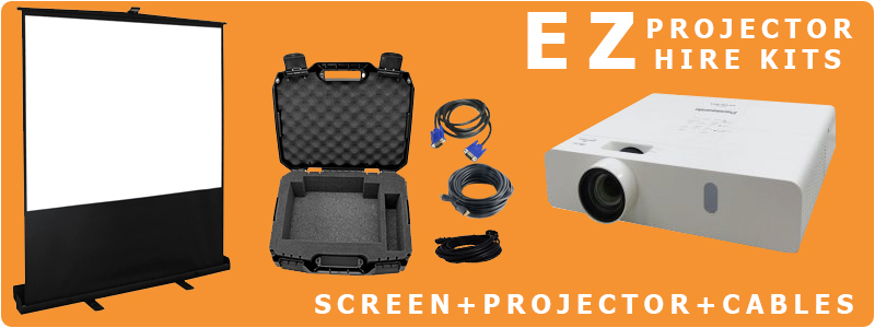 Projector and screen hire package deals